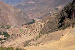 Terrazas agrícolas Incan en Pisac Fotografía de archivo libre de regalías