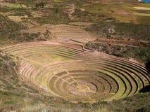 Terrazas antiguas de la circular del inca Imagen de archivo libre de regalías