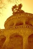 Terrazas de Guell del parque, Barcelona Fotos de archivo