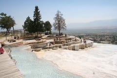 Terrazas de Pamukkale, Turquía Foto de archivo libre de regalías