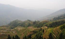 Terrazas del arroz de Longji Foto de archivo libre de regalías