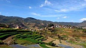 Terrazas del arroz de NaNuo Fotografía de archivo