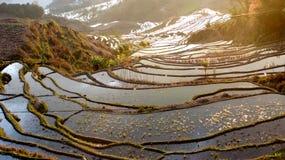 Terrazas del arroz de NaNuo Imagen de archivo