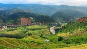 Terrazas hermosas del arroz, Asia sudoriental, Vietnam Fotografía de archivo libre de regalías