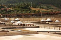 Terrazas tradicionales de la mina de sal Imagen de archivo libre de regalías
