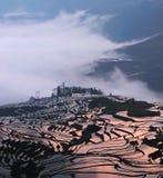 Terrazas y nubes Imagenes de archivo