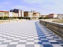 Terrazza Mascagni, Leghorn Livorno, Italia Fotos de archivo