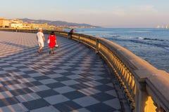 Terrazza Mascagni in Livorno, Italien stockfotografie