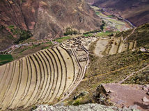 Terrazzi agricoli nelle Ande peruviane immagini stock libere da diritti