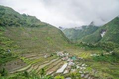 Terrazzi del riso di Batad fotografia stock libera da diritti