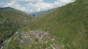 Terrazzi del riso nelle montagne Fotografie Stock Libere da Diritti