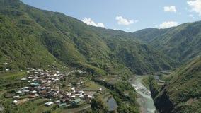 Terrazzi del riso nelle montagne Immagine Stock Libera da Diritti