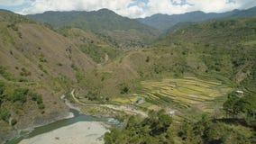 Terrazzi del riso nelle montagne Immagini Stock Libere da Diritti