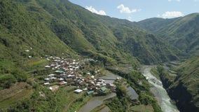 Terrazzi del riso nelle montagne Fotografia Stock Libera da Diritti