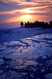Terrazzi del travertino di Pamukkale Fotografia Stock