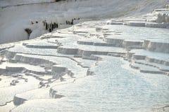 Terrazzi del travertino di Pamukkale Fotografia Stock Libera da Diritti