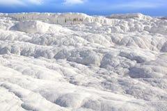Terrazzi del travertino in Pamukkale Turchia Immagine Stock