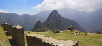 Terrazzi dell'erba di Machu Picchu Fotografie Stock