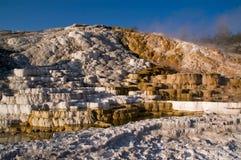 Terrazzi della Mammoth Hot Springs immagine stock libera da diritti