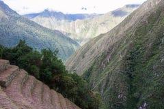 Terrazzi di agricoltura vicino a Machu Picchu peru Il Sudamerica Nessuna gente Fotografia Stock