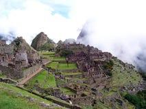 Terrazzi a Machu Picchu peru Immagini Stock Libere da Diritti