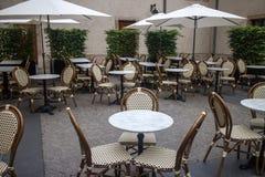 Terrazzo all'aperto del ristorante Immagini Stock