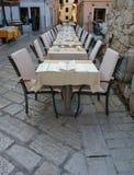 Terrazzo antiquato del caffè Fotografia Stock