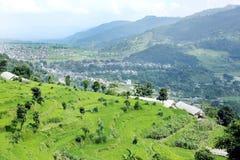 Terrazzo che coltiva in valle di Pokhara Fotografia Stock Libera da Diritti