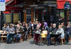 Terrazzo parigino del caffè Fotografia Stock Libera da Diritti