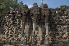 Terrazzo degli elefanti Immagini Stock
