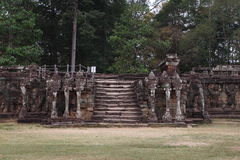 Terrazzo degli elefanti, Angkor Thom Fotografie Stock
