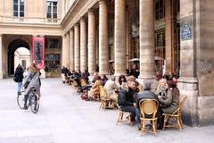 Terrazzo dei bistrot - Parigi Fotografia Stock