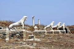 Terrazzo dei leoni Fotografia Stock Libera da Diritti