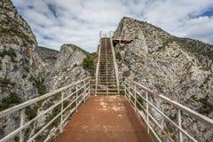 Terrazzo del canyon di Valla Fotografie Stock Libere da Diritti