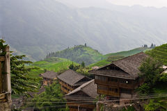 Terrazzo del giacimento del riso di Guilin Immagine Stock Libera da Diritti