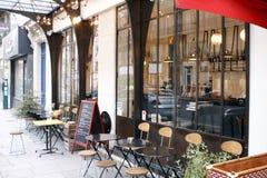Terrazzo del ristorante Fotografia Stock Libera da Diritti