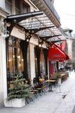 Terrazzo del ristorante Immagini Stock