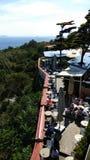 terrazzo del ristorante a Costantinopoli fotografia stock libera da diritti