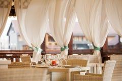 Terrazzo del ristorante di estate Fotografia Stock Libera da Diritti