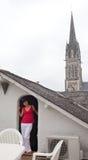 Terrazzo del tetto francese Immagine Stock