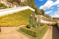 Terrazzo dell'allerta del giardino di Ledeburg Fotografie Stock Libere da Diritti