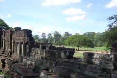 Terrazzo dell'elefante Fotografia Stock