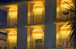 Terrazzo dell'hotel Fotografia Stock Libera da Diritti