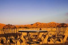 Terrazzo della cima del tetto del deserto dell'hotel Immagini Stock
