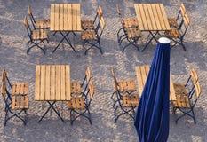 Terrazzo della via Fotografie Stock Libere da Diritti