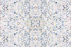 Terrazzo, der alte Beschaffenheit oder Polierstein für das Hintergrundmuster und -farbe schön ausbreitet Stockbild