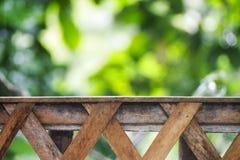 Terrazzo di legno Immagine Stock