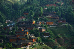 Terrazzo di Longji, Guilin Fotografia Stock