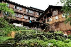 Terrazzo di Longji, il Guangxi, porcellana Immagine Stock