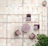 Terrazzo di pietra nel cortile Immagine Stock Libera da Diritti